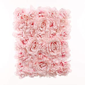 Blush Blooms Premium Decorative Flower Panel for Flower Wall Handmade with Artificial Silk Flowers for Wall Decor, Flower Wall, Wedding, Bridal & Baby Shower, and Event Decor (Gradient Pink)