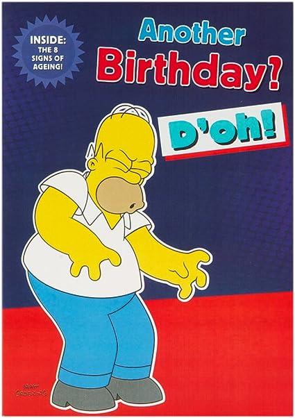 Label Humoristique Pour Anniversaire Pour Homme Motif Les Simpsons Carte Pliable Taille M Amazon Fr Fournitures De Bureau