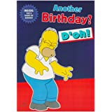 Hallmark The Simpsons Birthday Card For Him '8 Signs Of Ageing' - Medium
