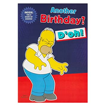 Hallmark The Simpsons Birthday Card For Him 8 Signs Of Ageing
