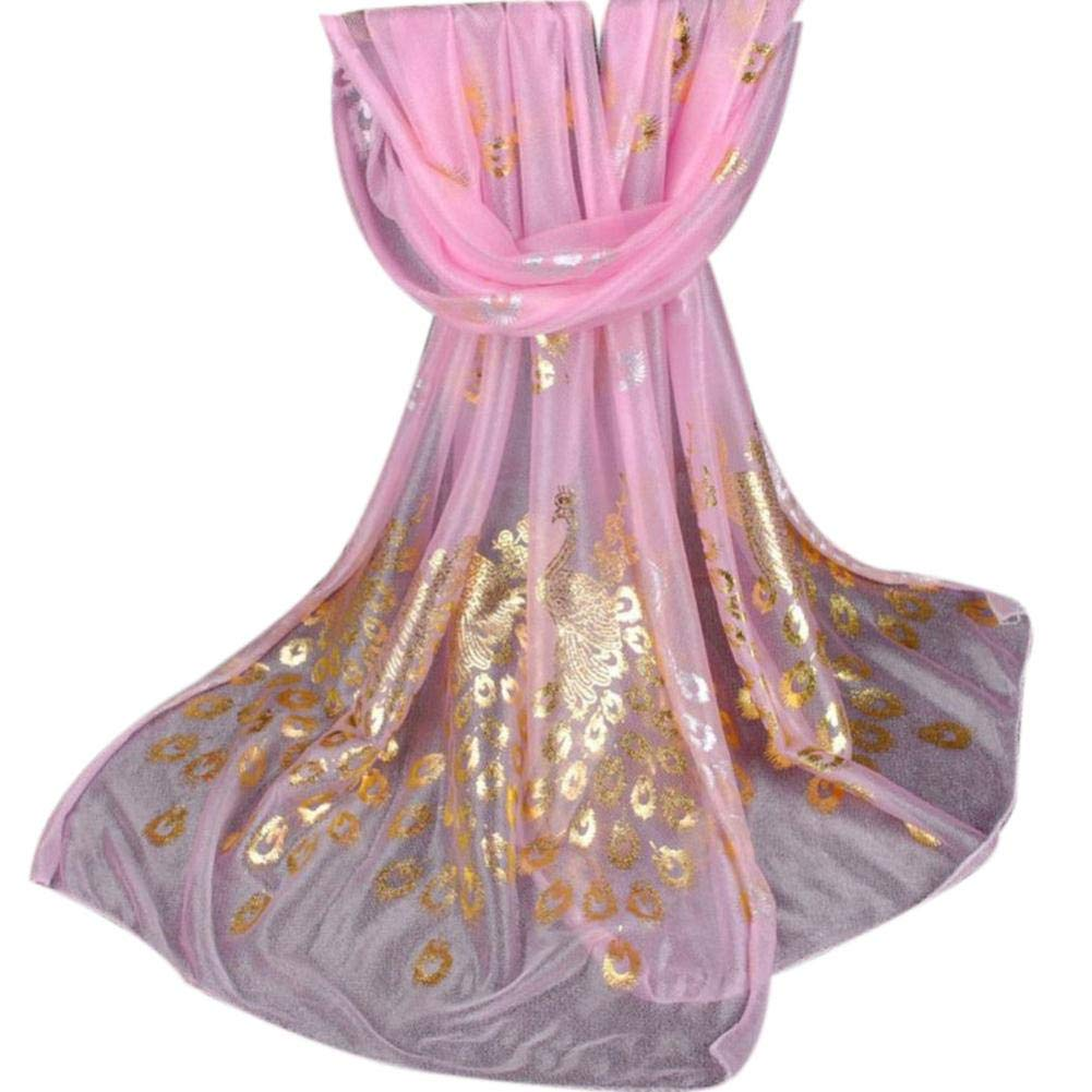 Pocciol Scarf, Women Long Soft Wrap Ladies Shawl Girls Scarves (Pink)