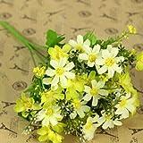 HuntGold - Bouquet di crisantemi artificiali, in stoffa, colore: Giallo