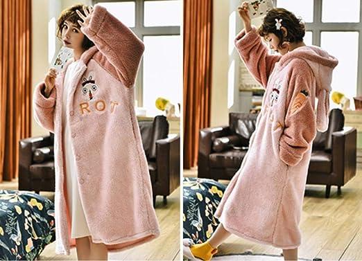 lxylllzs Vestidos De Mujer Bata Batas De Felpa,Pijama Largo ...