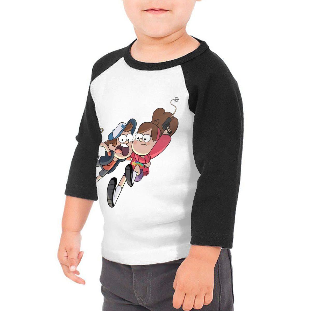 Black6Red Gravity Falls Season2 Childrens 3//4 Sleeve T-Shirt