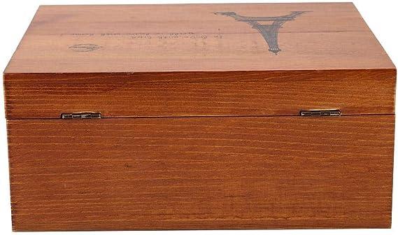stile vintage Bella e durevole grande capacit/à con materiale di alta qualit/à in legno Scatola di cancelleria Ottimo regalo per i tuoi amici o familiari Scatola di legno # 3