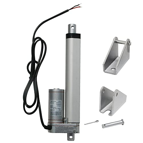 ECO-WORTHY 150mm 12V Linear Motor Actuator Heavy Duty 330lbs Solar Tracker Multi-function for Electroic ,Medical,auto Use