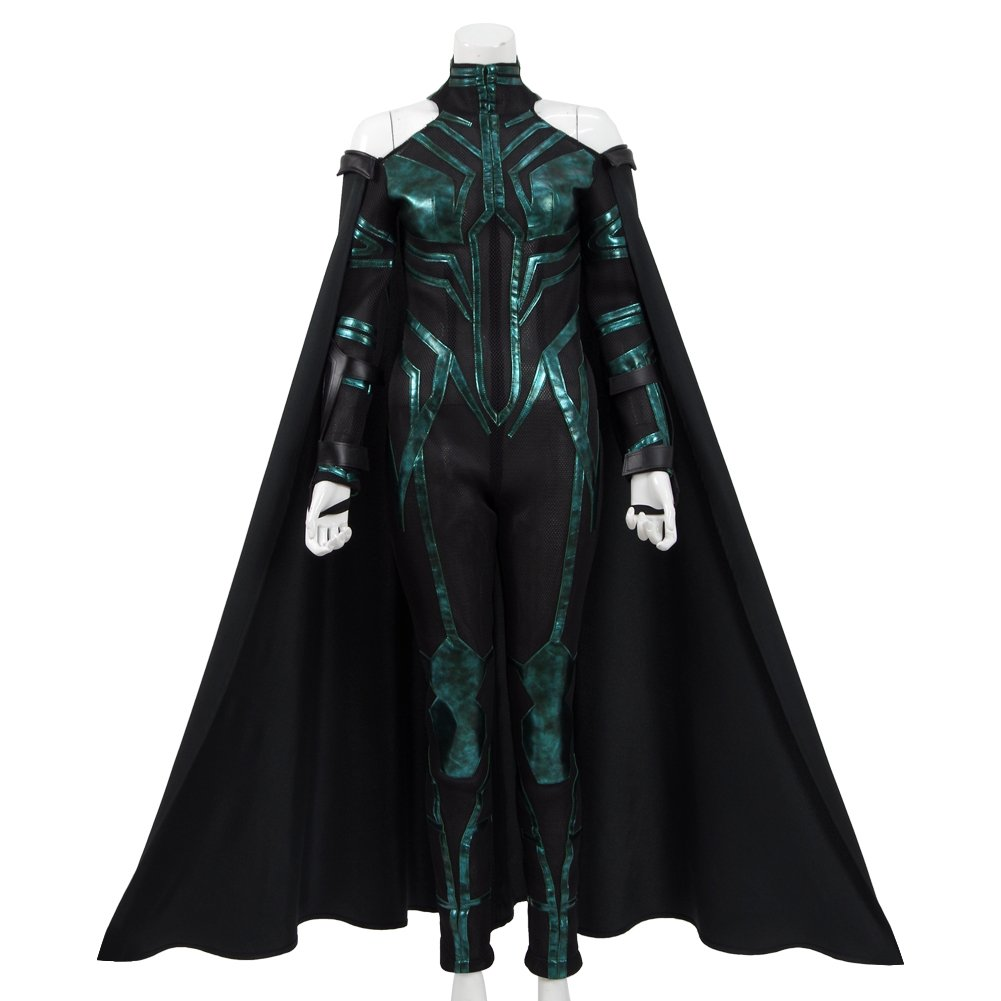 VOSTE Hela Costume Halloween Cosplay Outfits With Cloak For Women (Large)
