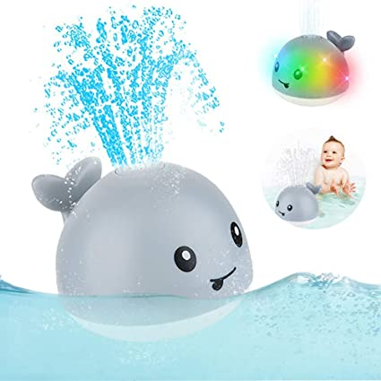 Amazon.com: 2020 Updated Baby Bath Toys, Light Up Bath Toys with LED Light, Sprinkler  Bathtub Toys for Toddlers Infant Kids Boys Girls, Whale Spray Water Bath Toy,  Bathtub Shower Pool Bathroom Toy