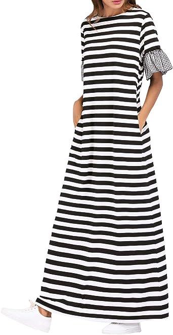 zhbotaolang Mujer Abaya Vestidos Kaftan Largos - Dubai ...