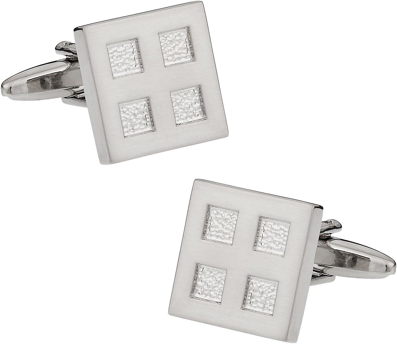 LEATHER 3rd ANNIVERSARY Gift  HANDMADE Cufflinks 8c4 Silver Cufflink Box Included