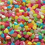 6.1oz Mixed ColorLuminous Resin Stone, Cobblestones Pebbles Glow in The Dark for Aquarium Fish Tank, Plant Flower Pot Decoration