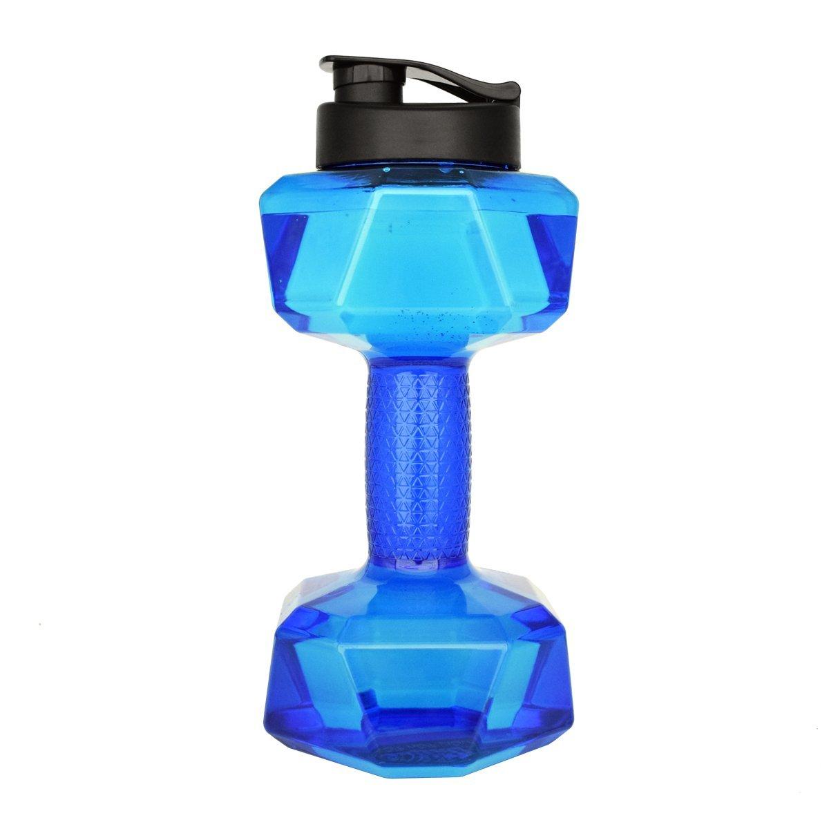 QuiFit Botella de Agua 2.2l Dumbbell Fitness Agua Bottle-bpa Libre Gran Capacidad Botella de Agua para Deportes al Aire Libre