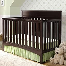 Delta Children Bennington Lifestyle 4-in-1 Convertible Crib - Dark Chocolate