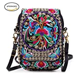 Embroidery Flowers Canvas Crossbody Bag, Women Messenger Bag Review and Comparison