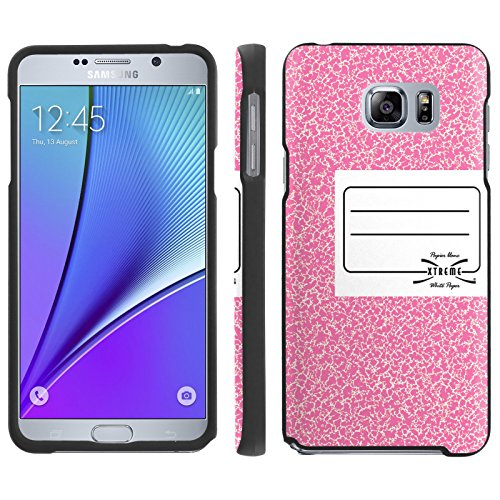 [ArmorXtreme] Case for SAMSUNG GALAXY NOTE 5 / Note5 [Designer Image Shell Hard Cover Case] with [Screen Protector] - [Pink NoteBook]