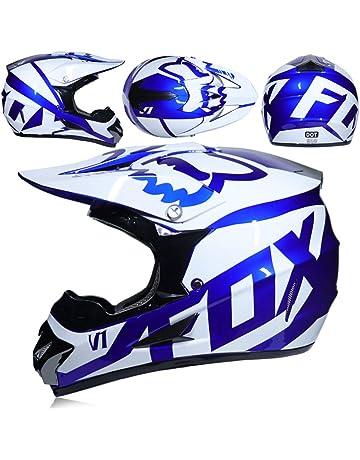 0770485d72c Casque de Motocross Adulte Cadeau Lunettes Masque Gants Moto Racing Plein  Visage Casque pour Homme et