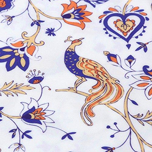 Imprim Femme de Robe Femme Soire U Jupe Femme Femme 50's Style 60's Floral de Robe Blanc Femme Bohme Robe Weant Chic Robe Robe Cocktail Soire Robe Col Rtro Plisse Vintage 6wd1vd4g