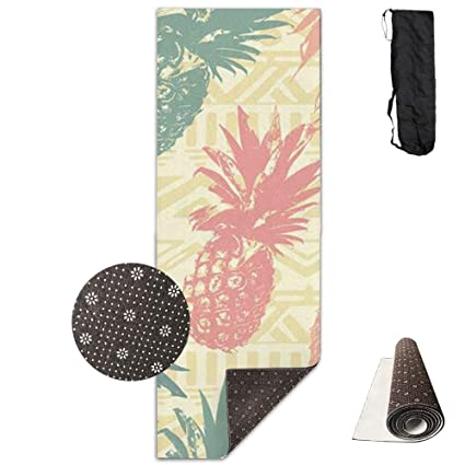Amazon.com : wenhuamucai Tribal Aztec Pineapple Yoga Mat ...
