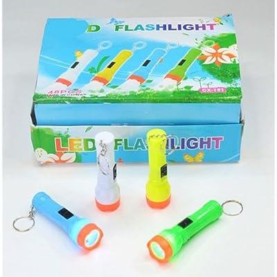 4x Lampe de poche Lampe porte-clés + piles Petit cadeau d'anniversaire Lot de 4