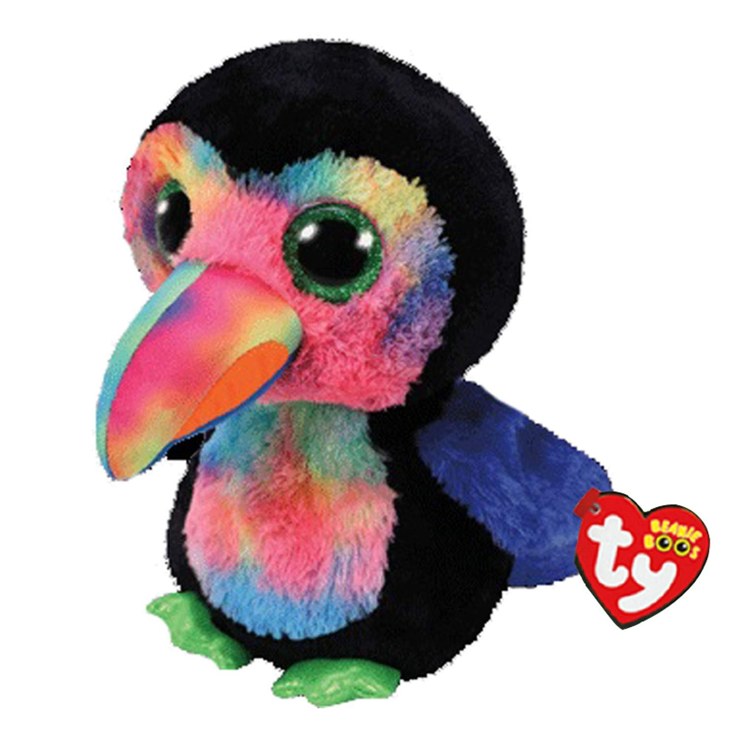 Amazon.com: JEWH Ty Beanie Boos - Plush Toy (Owl, Panther, Penguin, Dog, Giraffe, Cat, Raccoon, Sheep, Bat,...) Cattle Plush Animal (15cm) (Tukian): Toys ...