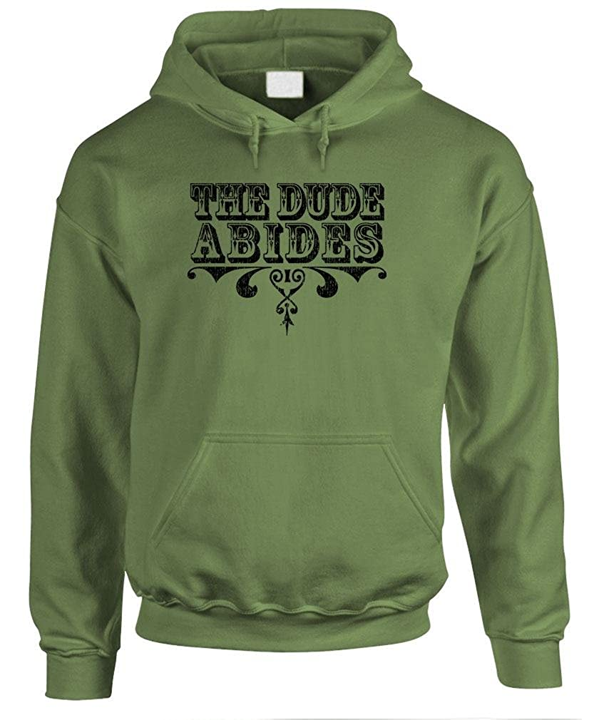 The Goozler Mens Pullover Hoodie The Dude Abides