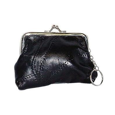 Amazon.com: piel Negro cartera con cierre Embrague – Modelo ...