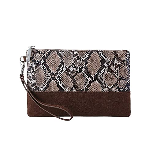 8005aceb994 Leopard Print Clutch Purses Bags Women Crocodile Embossed Snakeskin Pattern  Wristlet Pouch Wallet Faux Leather(