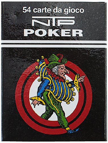 NTP Long Life Poker Size Standard Index Playing Cards (Red) by Dal Negro S.p.a.