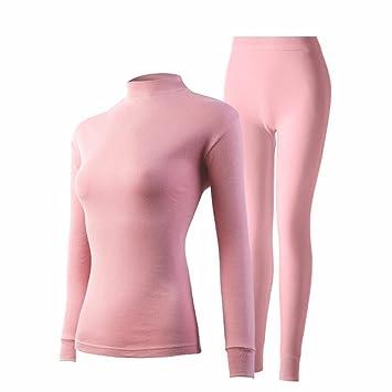 YMFIE Simple moda en otoño e invierno ropa interior suelta de algodón puro manga larga ropa