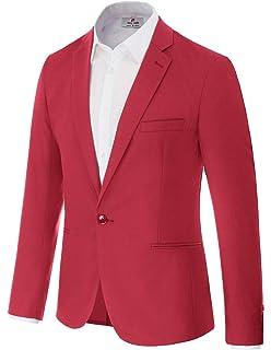 Amazon.com: Mogu - Blazer casual con un botón para hombre ...
