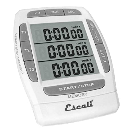 Escali DR5 Triple Event Digital Timer, White