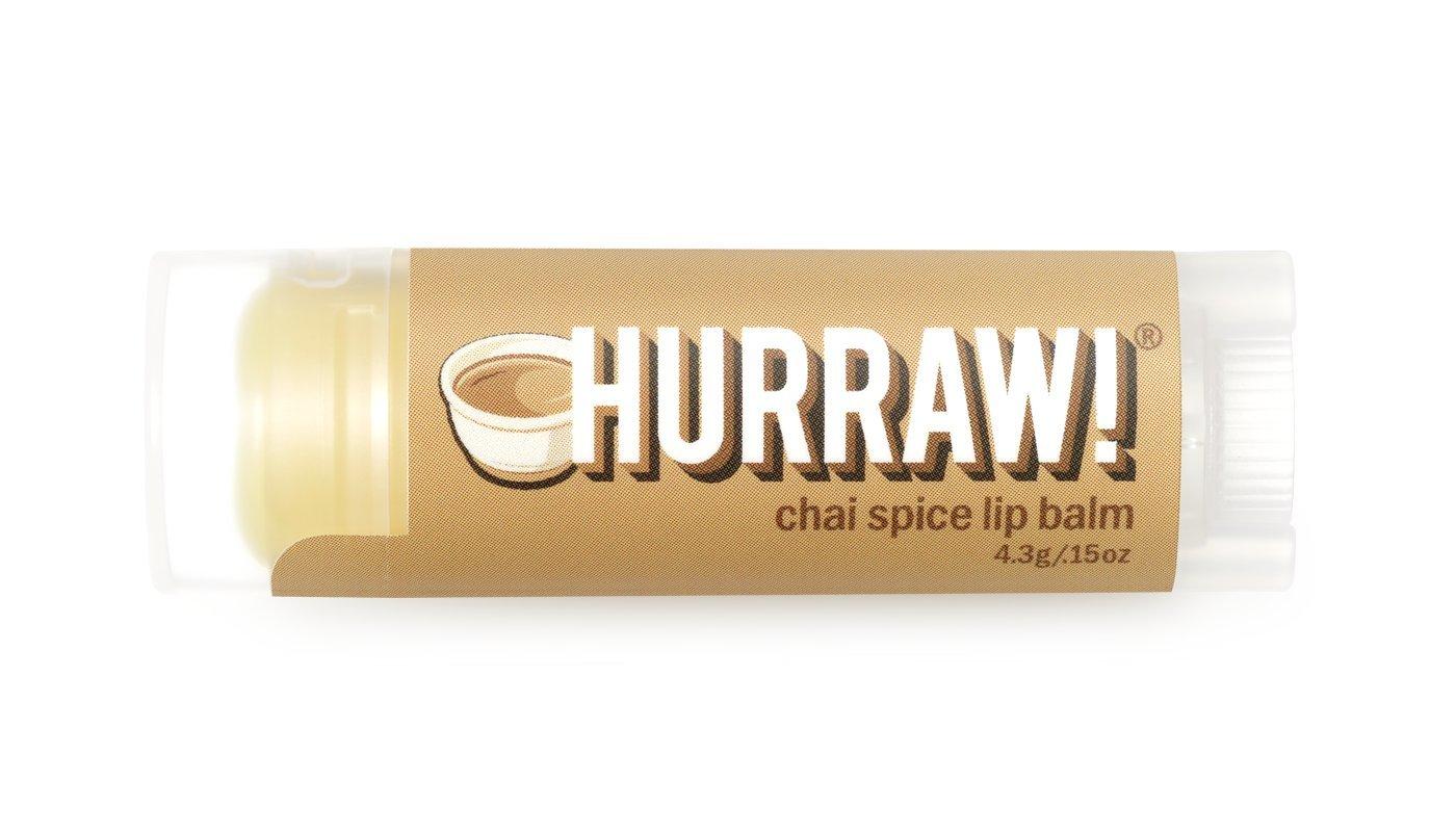 Chai Spice Hurraw! Lip Balm: Organic, Certified Vegan, Certified Cruelty Free, GMO Free, Gluten Free, All Natural – Luxury Lip Balm Made in the USA – CHAI SPICE