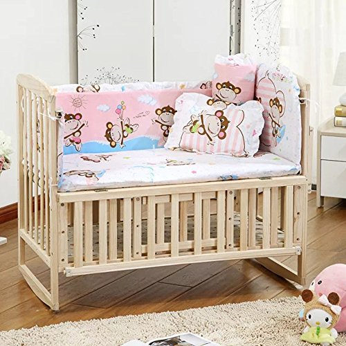 - RuiHome 5-Pieces Princess Girl Baby Bedding Set with Bumper Pad fits Crib 26x47