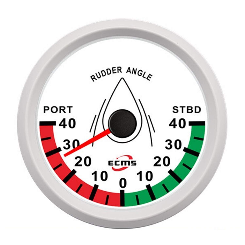 Low Power Consumption Universal Analog Rudder Angle Indicator Gauge Meter Marine Ship Boat Yacht 0-190ohm Signal with Rudder Sensor 85mm (3-3/8''), Waterproof, Lightning-Proof by JUNJIAGAO-gauge