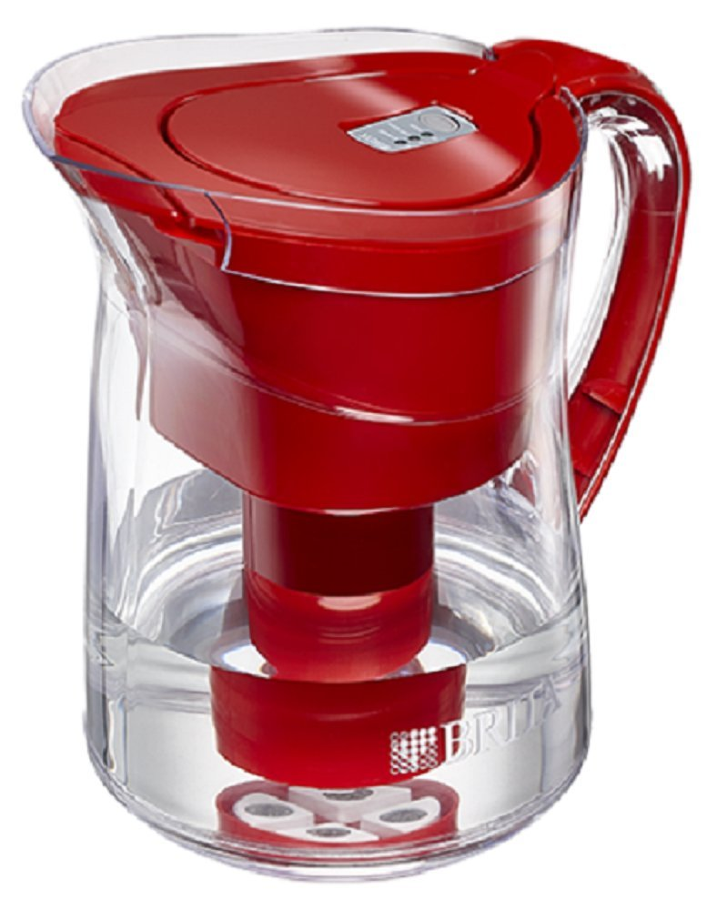 Amazon.com | Brita Mini Plus Water Filtration Pitcher 6 Cup Assorted Colors  (Red): Carafes U0026 Pitchers