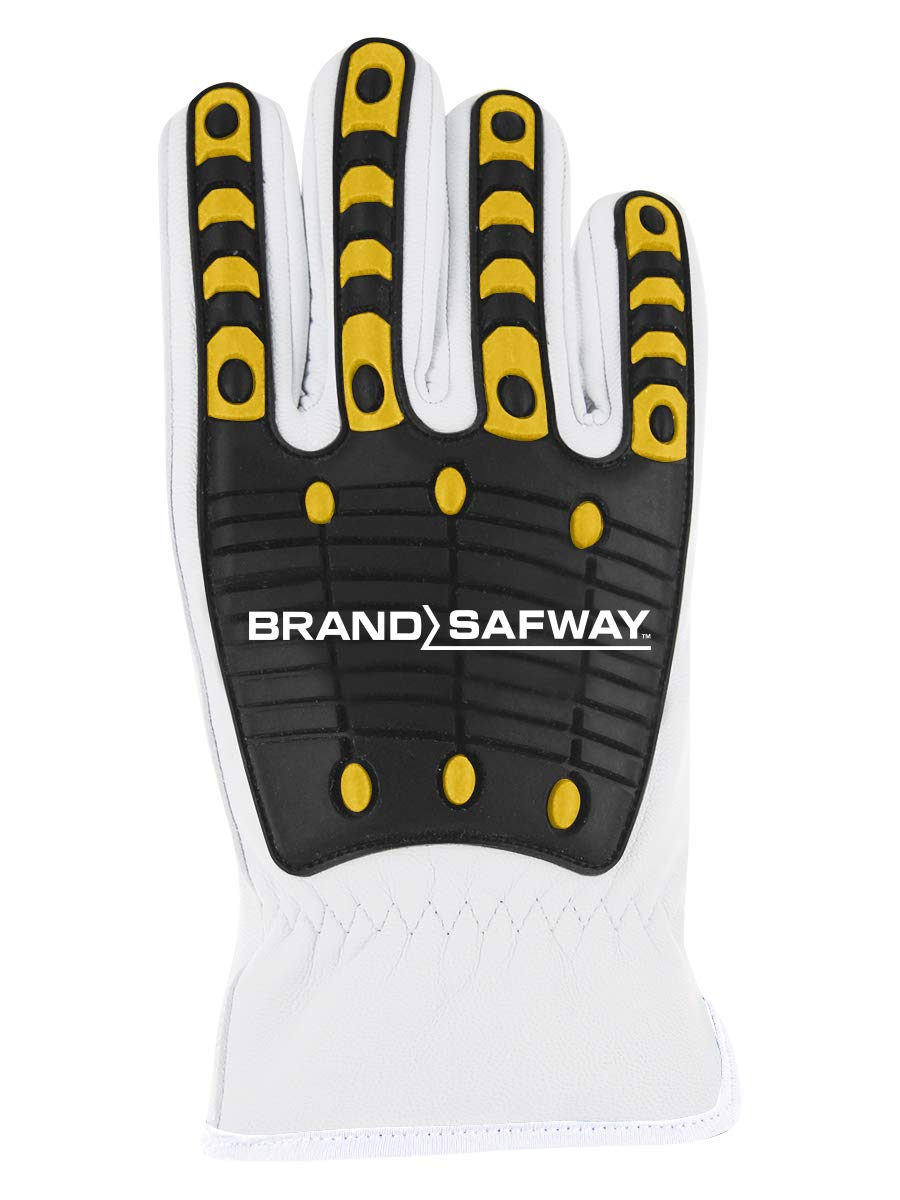 Magid T-REX Rebel Series TRX846BS Hyperon-Lined Driver Style Impact Glove - Brand Safway Logo (1 Pair)