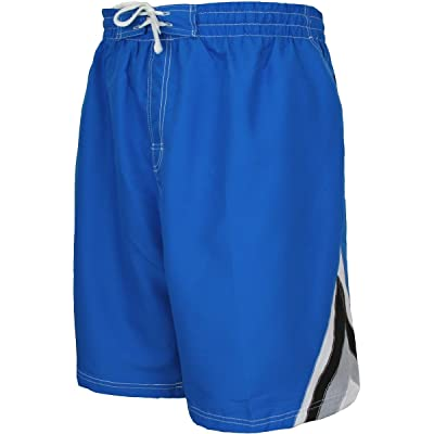 Rick's Café by Falcon Bay Big and Tall Men's Color Block Swim Trunks