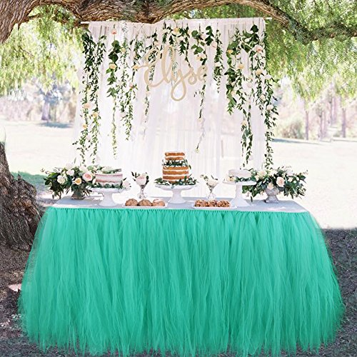 Aytai TUTU Table Skirt Tulle Tableware Handmade Table Cloth Skirting Romantic for Wedding Christmas Party Baby Shower Birthday Cake Table Girl Princes…