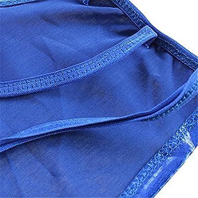 Polliwoo Women Sexy Lingerie Nightclub Dress Patent Leather Pole Dance Bodysuit Temptation Clubwear (Blue- Free One Size)