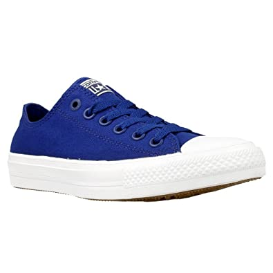 Converse Mens Chuck Taylor All Star II OX Casual Shoes Sodalite BlueWhiteNavy 150152C