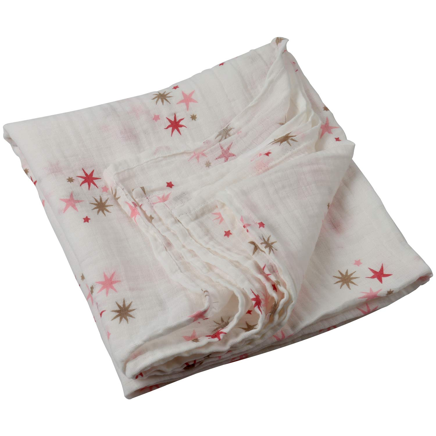 Large Muslin Swaddle Blankets for Newborn Baby, Cotton Silky Organic Flora Swaddle Blanket Boy and Girl (Sakura) wonlex BB05-12-CA