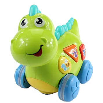 Amazon Com Fisca Baby Toys Musical Walking Dinosaur For Babies