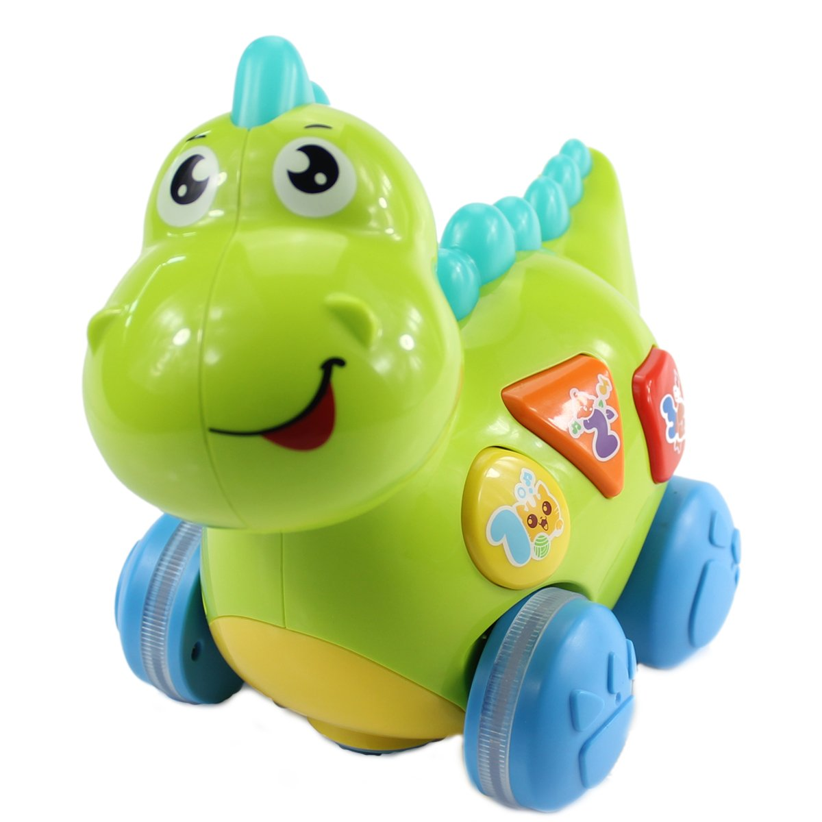 fisca Baby Toys Musical Walking Dinosaur for Babies & Toddlers, Preschool Learning Educational Toys with Lights and Music