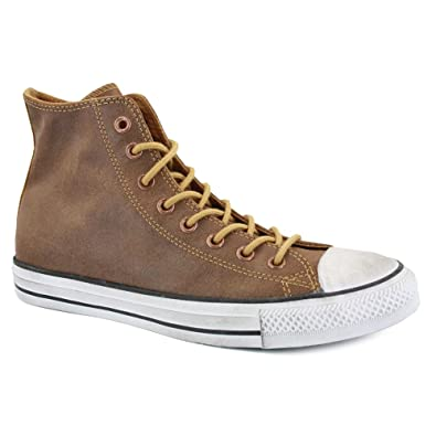 9ae0bd0d0b7f62 Converse All Star Vintage Leather Hi 132151C Unisex Laced Leather Trainers  Wheat - 7  Amazon.co.uk  Shoes   Bags