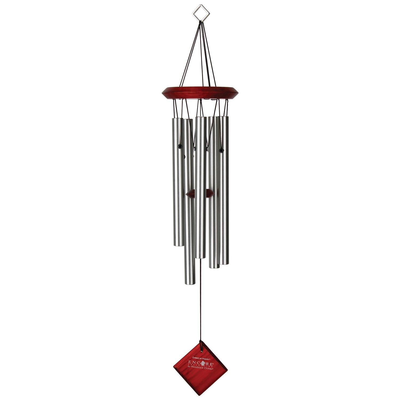 Woodstock Windspiele - Glockenspiel Von Polaris Silber 22[Gartenartikel] Zen Minded DCS22