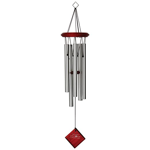 WoodStock Campana de viento Polaris color plata