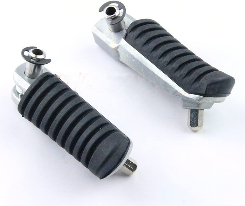 Kissparts 1 Pair Motorcycle Front Footrest Foot pegs Fits Kawasaki KLE650 KLZ1000 VERSYS 2007-2015 Black