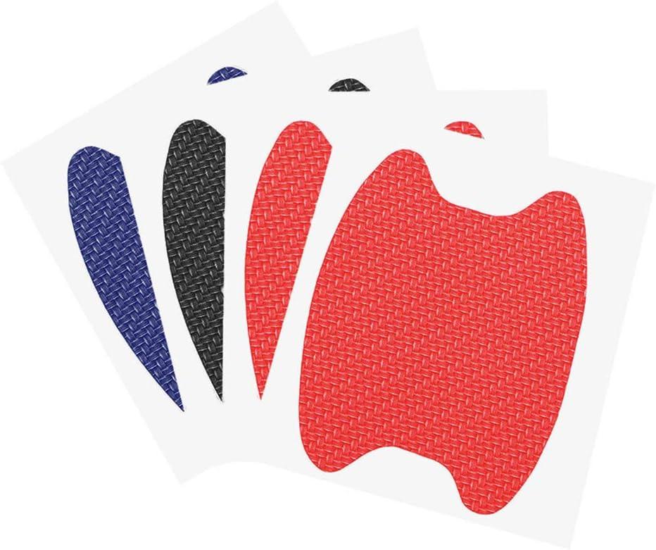 Set Maniglia Universale in Fibra di Carbonio Auto Door Autoadesivo della Pellicola Car Maniglia Anti Scratch Protector Sticker Cinema Idyandyans 4pcs
