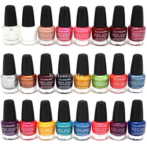 L.A. Colors * Color Craze Nail Polish 24pc (Set #1, in 24