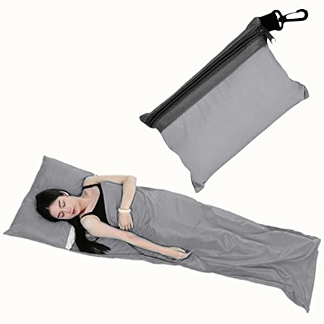 Saco de Dormir, condant Tela de Saco de Dormir Ligero portátil Microfibra Saco de Dormir Ideal ...